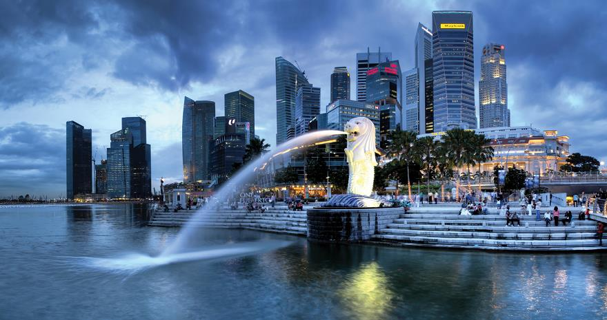 singapore-ve-merlion-gorsel