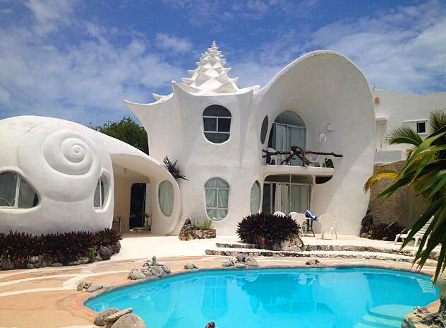 Conch Shell House, Isla Mujeres, Meksika