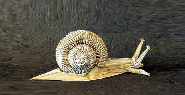 Origami-salyangoz