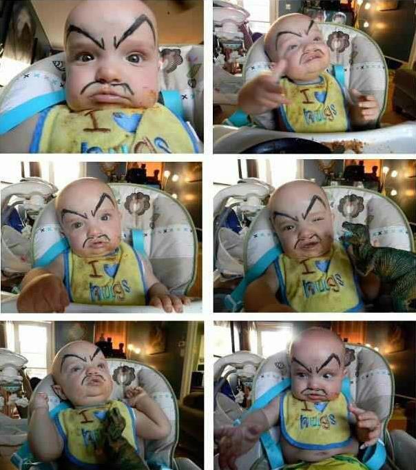 kaşlı-komik-bebekler