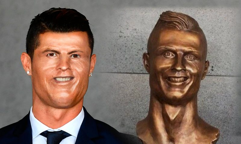 Havalimanındaki Ronaldo Büstü