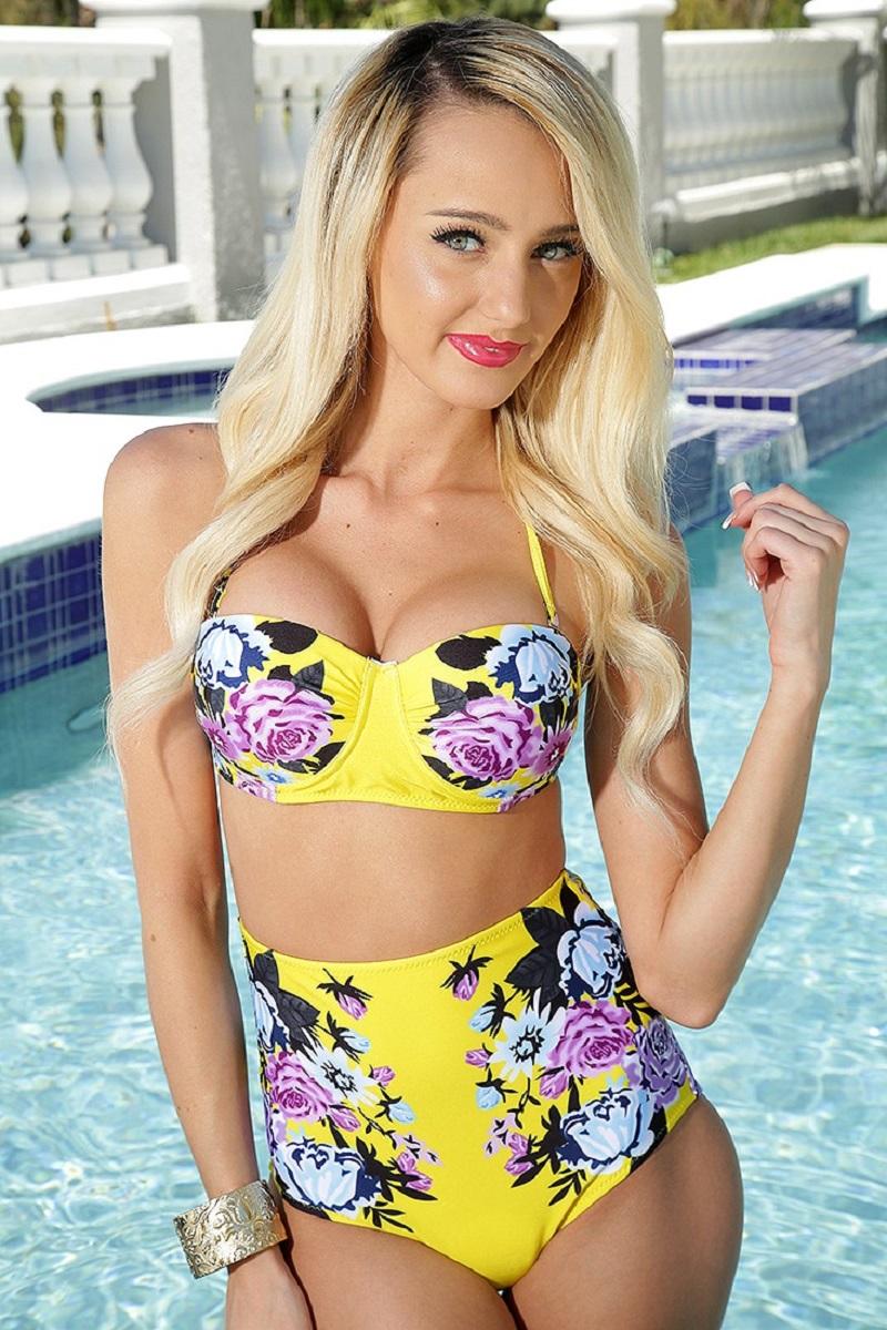 çiçekli mayolar 2017 bikini